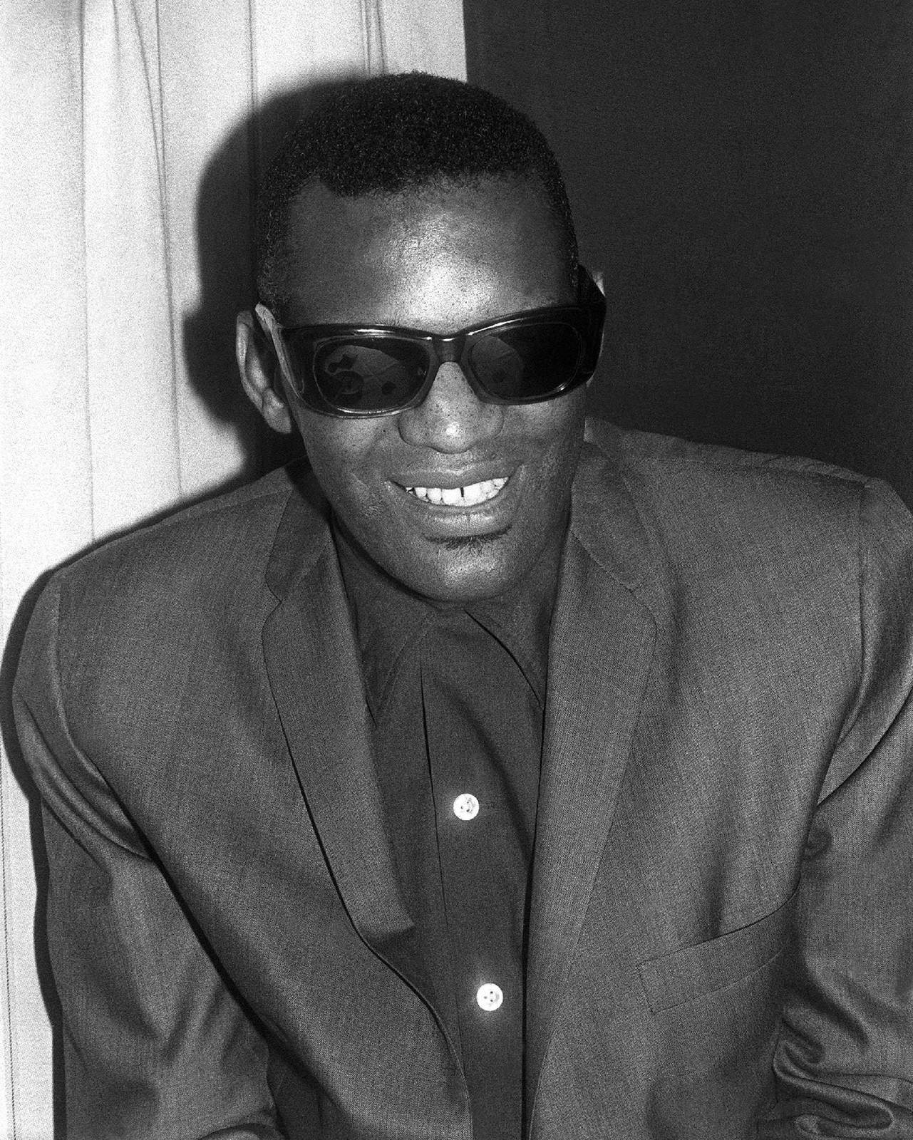 Concert -Olympia, Paris, backstage, portrait, Ray Charles - 1962.JPG